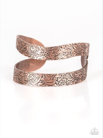 garden goddess copper bracelet